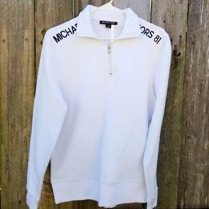 Michael Kors Men's White Sweater  NWT